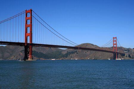 Stunning view of the Golden Gate Bridge in San Francisco California. Stock Photo