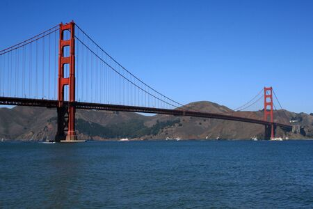 Stunning view of the Golden Gate Bridge in San Francisco California. Stock Photo