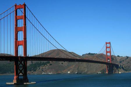 The Golden Gate Bridge in San Francisco California.