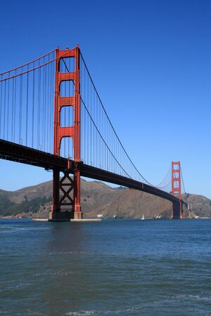 Golden Gate Bridge in San Francisco California.