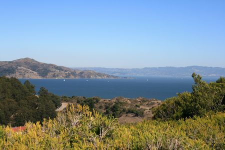 Beautiful View of the San Francisco Bay.  Located in San Francisco California. Stock Photo - 5893470