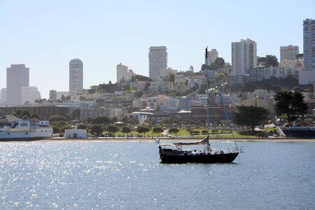 Sailboat on the water in beautiful San Francisco California.