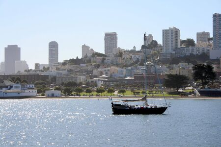 Sailboat on the water in beautiful San Francisco California.
