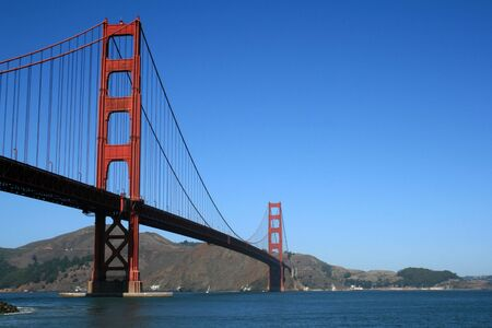 The famous Golden Gate Bridge in San Francisco California. Stock Photo