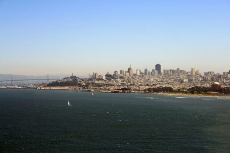 Beautiful view of the San Francisco skyline.