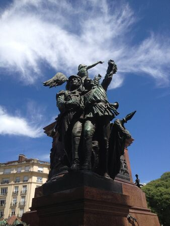 jose de san martin: This is the statue of Jose de San Martin located in the center of Plaza San Martin Buenos Aires Argentina.