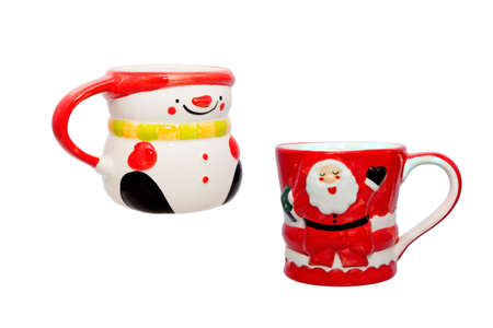 christmas ceramic cup  with snowman pattern photo