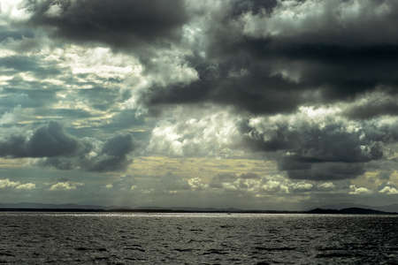 moles: texture of dark storm clouds on the sea.