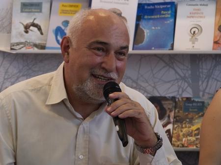 PRAGUE - MAY 13, 2017:  Romanian writer and politician Varujan Vosganian on the Book World Prague 2017 - 23rd International Book Fair and Literary Festival