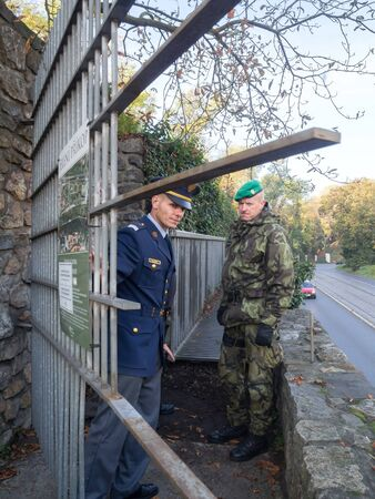 PRAGUE - OCTOBER 26, 2019: Open days of the Deer Moat at Prague Castle. Editorial