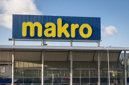 PRAGUE - DECEMBER 10, 2019: Makro cash and carry in Stodulky quarter. Editorial