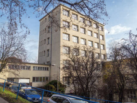 PRAGUE - FEBRUARY 3, 2020: Building of the Infectious, Parasitic and Tropical Diseases Clinic of Na Bulovce hospital.