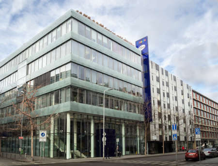 PRAGUE - FEBRUARY 26, 2020: Branch office of Google in Czech republic on Stroupeznikeho street in Smichov quarter.