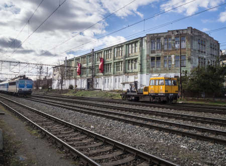 PRAGUE - FEBRUARY 26, 2020: MeetFactory - international  art and cultural center of David Cerny in Smichov quarter. Editorial