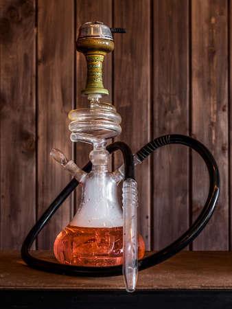 Hookah smoke in cafe & lounge bar Stock Photo