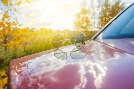 Sunglasses, summer Stock Photo