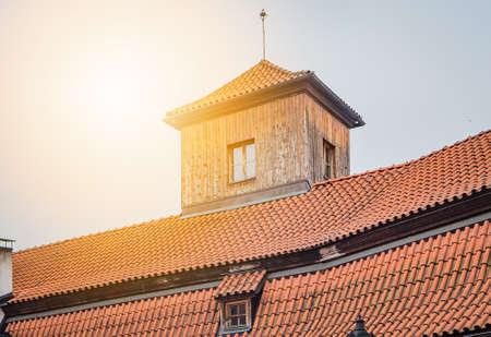 Ancient house in Prague in Prague