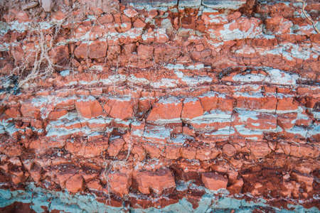 Beautiful clay texture consisting of many layers Archivio Fotografico