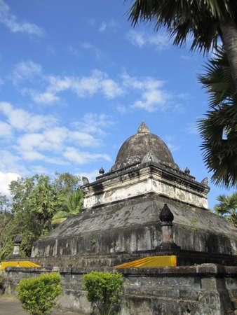 lao: Temple en R�publique d�mocratique populaire lao Banque d'images