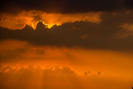city of sunrise: City during warm sunset