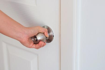 door knob: Opening door knob
