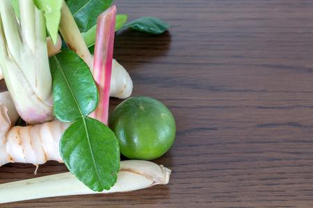 thai herb: thai herb ingredient on a wooden background