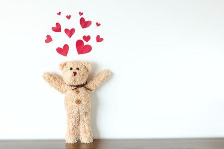 teddybeer verliefd Stockfoto