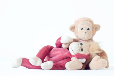 Gelukkig liefdespaar, beste vrienden knuffelen Stockfoto