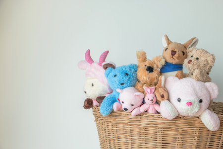 teddy bears and the gang in the basket