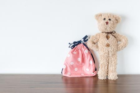 Teddy bear is traveler Stock Photo