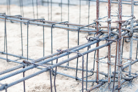Steel reinforcement in construction work 스톡 콘텐츠