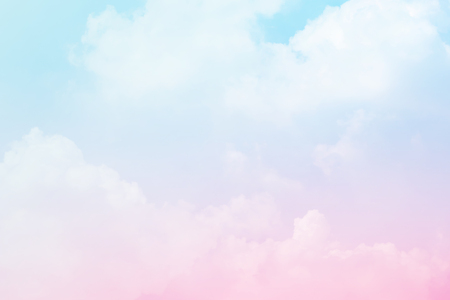 Soft cloudy is gradient pastel,Abstract sky background in sweet color. 版權商用圖片