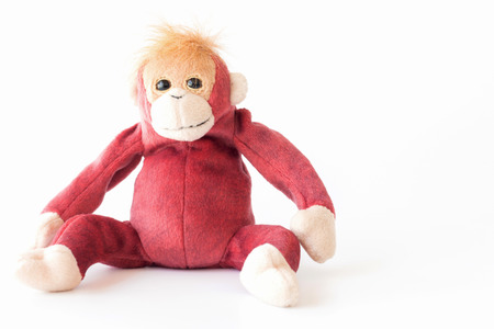 Happy monkey on white background. Banque d'images - 114337730