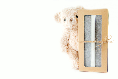 Cute teddy bear with classy celebration gift box ,Valentine and Chistmas day