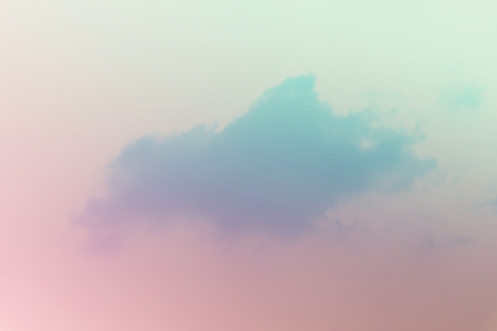 Soft cloudy is gradient pastel,Abstract sky background in sweet color. Stock Photo