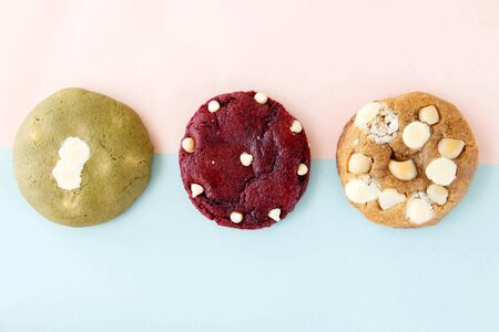 A three of homemade cookies that are the tastiest dessert