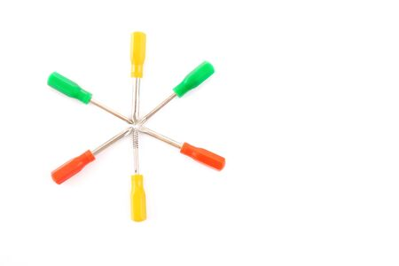 colorful screwdriver on white background