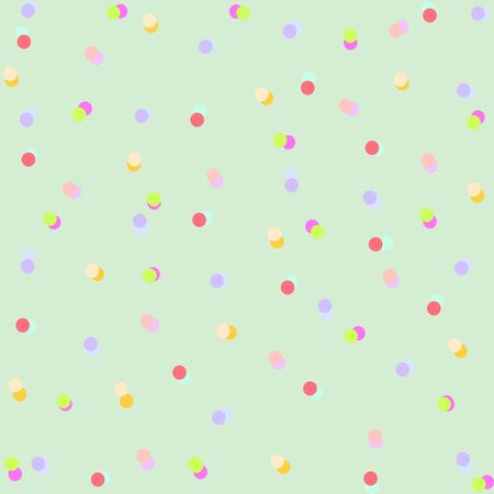 Colorful Dots on a green background