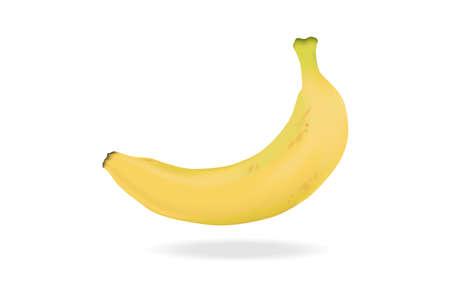 A fresh banana on white background Illusztráció