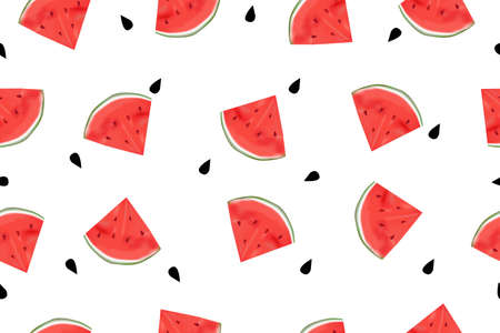 seamless watermelon pattern is a background Stock Illustratie