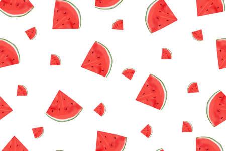 seamless watermelon pattern is a background Illusztráció