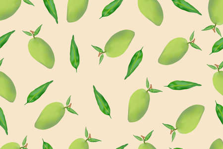 seamless mangos pattern is a background
