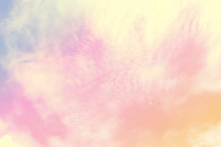 Soft cloudy is gradient pastel,Abstract sky background in sweet color. Stock fotó