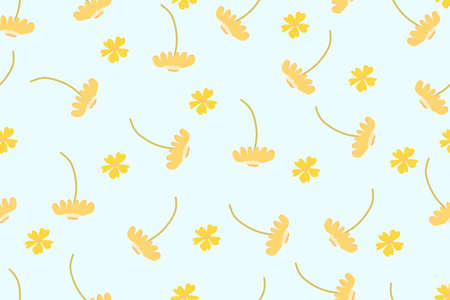 a cute seamless colorful flower background. Stock Illustratie