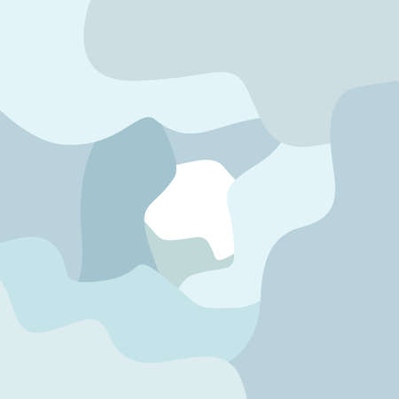 A pastel color abstract background. Fluid shape composition. Stock Illustratie