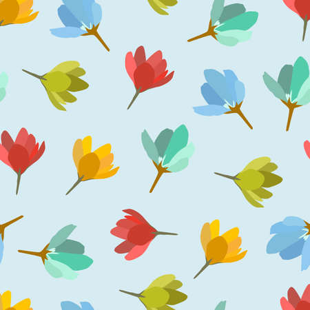 a cute seamless colorful flowers background.