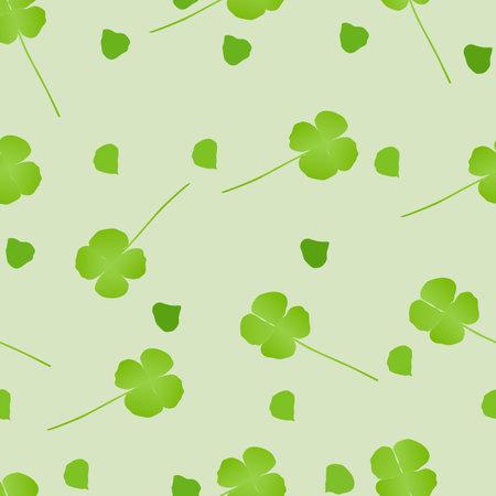 a cute seamless green flower background.