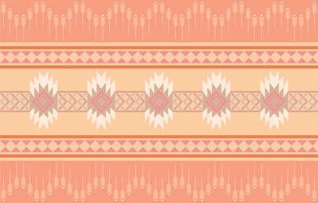 Seamless design pattern, Geometric vector of fabric texture Stock Illustratie