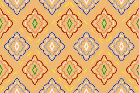 Seamless design pattern, Geometric vector pattern background, Ornament for fabric