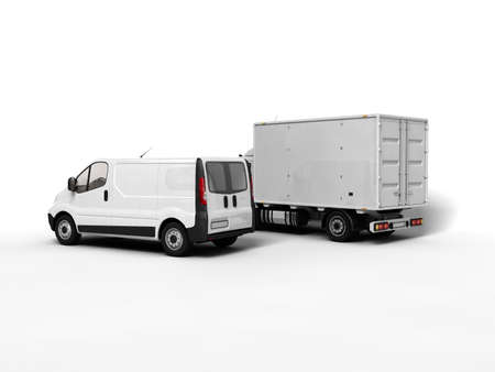 delivery truck: Cargo  Stock Photo